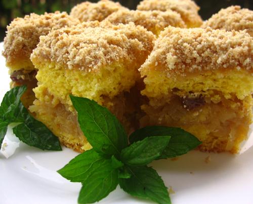 Prajitura cu mere si biscuite