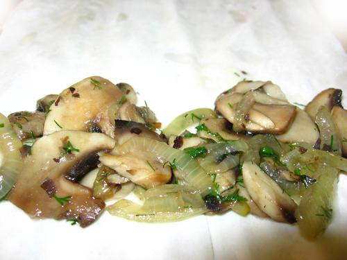 Strudel cu ciuperci