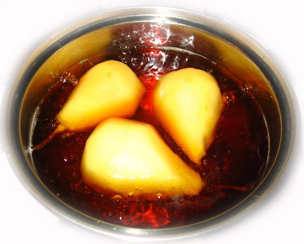 Pere in sirop caramel