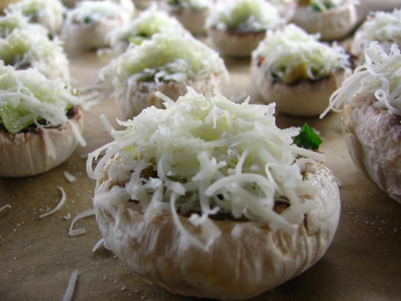 Ciuperci  cu legume gratinate