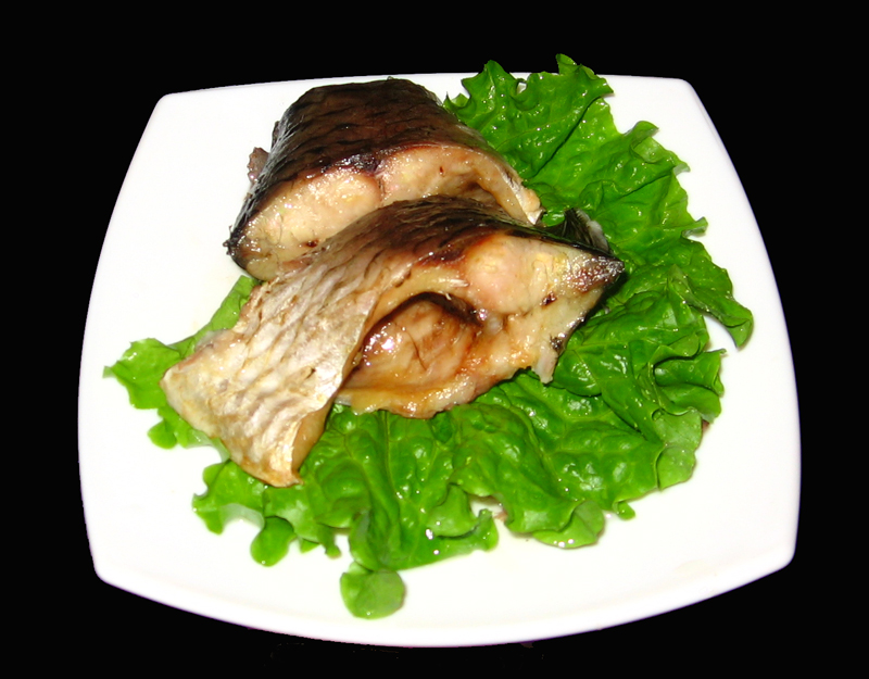 Caras la cuptor cu salata verde