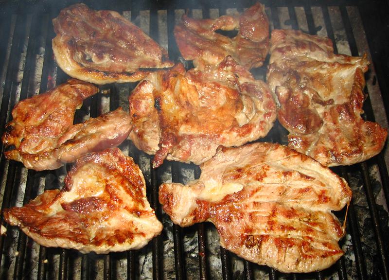 Friptura de porc si cartofi taranesti