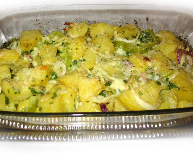 Cartofi gratinati cu parmezan