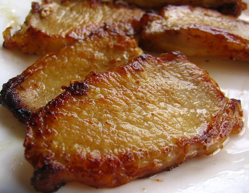 Friptura de porc in sos picant