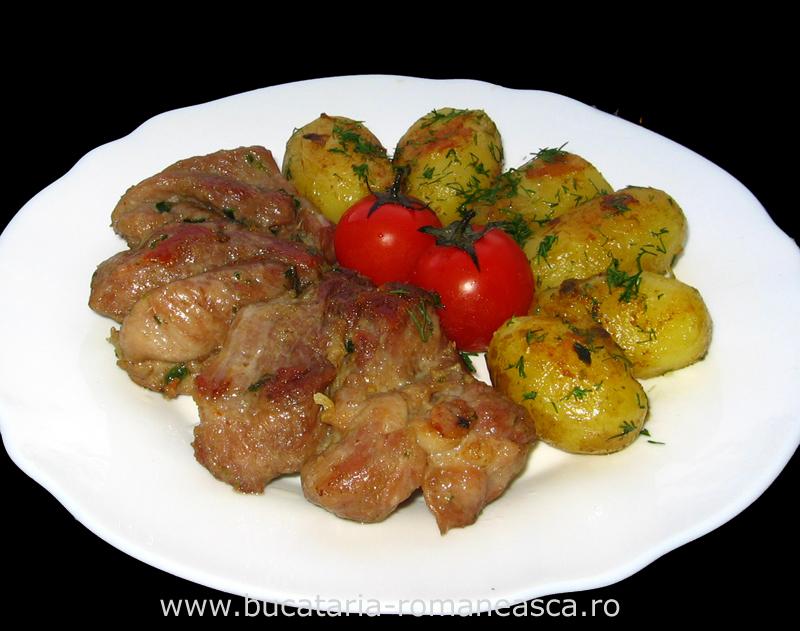 Friptura de porc cu cartofi la cuptor