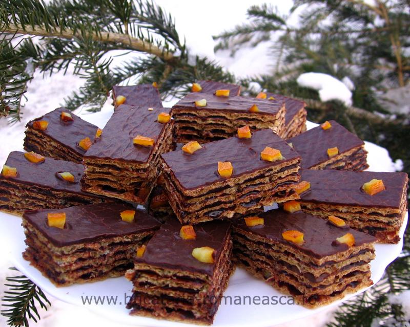 Napolitane cu ciocolata si portocale