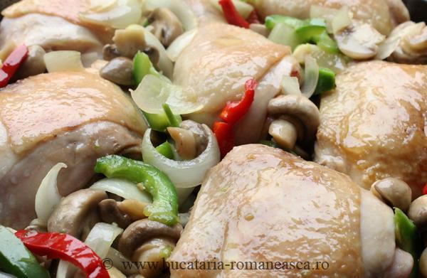 Pulpe de pui cu ciuperci (1)