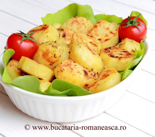 Cartofi cu usturoi si mustar la cuptor