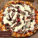 Pizza cu ciuperci si masline