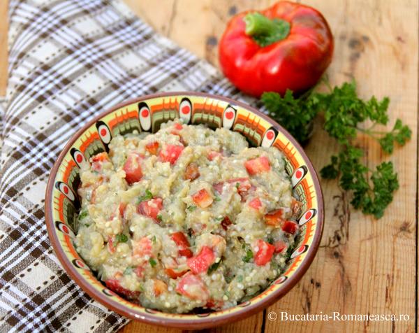 Salata de vinete cu rosii si ardei